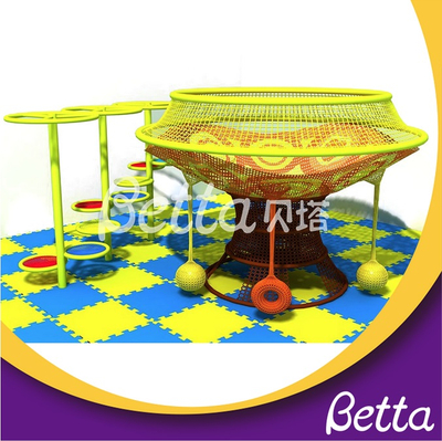 Bettaplay Commercial Rainbow Crocheted Climbing Net Kids Indoor Playground