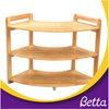 Kindergarten school furniture wood kids ladder bookshelf