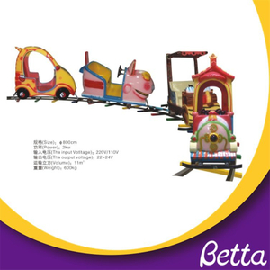 Bettaplay Funny Cartoon Electric Train with Track Amusement Park Rider