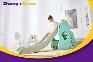 Pastel Home Stay New Design Best Quality & Plastic Children Slide with Hoop Outdoor Playground Equipment Own Use