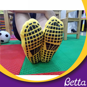 Bettaplay High Quality Polyester Anti-skid Non-Slippery Grip Socks,Kid Trampoline Socks for Jumping