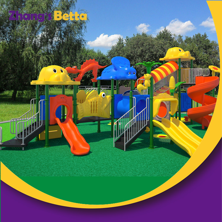 Pre-school Big Outdoor Plastic Slide Outdoor Playground for Sell