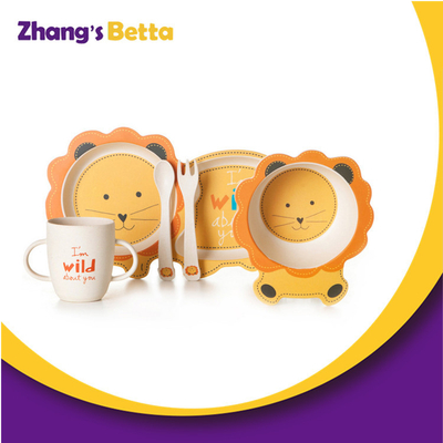 New Cute Styles Diverse Bamboo Kids Dinner Set