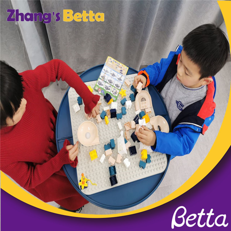 Good quality Cartoon Multi-functional Building Blocks Learning Block Table For Kids