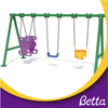 Outdoor three swings playground children chair equipment set