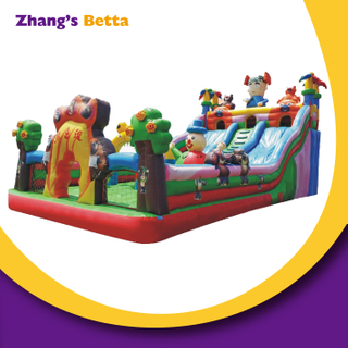 Cartoon Theme Outdoor Inflatable Castle with Slide