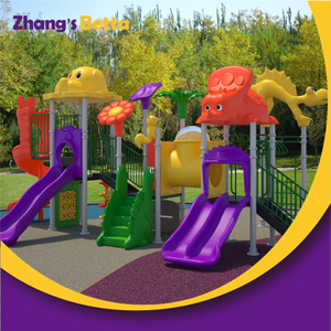 New Design of Kids Outdoor Playground Plastic Slide Equipment