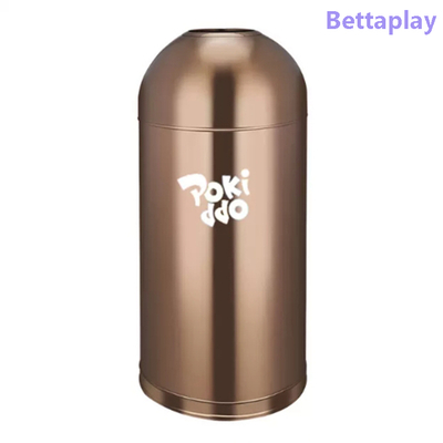 Custom Outdoor Playground Trash Bin Large Volume Stainless Steel Trash Can