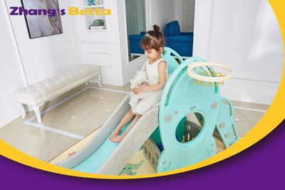 Best Quality Home Stay New DesignModest Style Pastel & Plastic Children Slide with Hoop Outdoor Playground Equipment Own Use