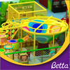 Colorful crocheted indoor playground for children