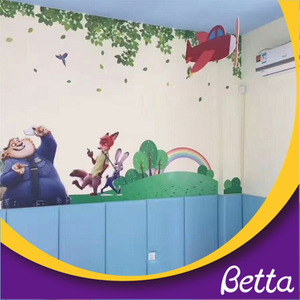 Non-toxic soft wall bumper decoration for kids room