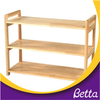 New design natural color low price wooden children bookshelf