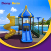 Plastic Playground Equipment Curved Slide for Kids Amusement