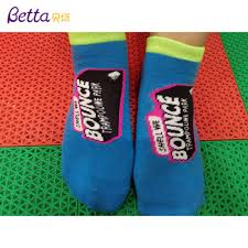 Breathable Anti-ski Bounce Socks Double Heel Jump Socks Custom Grip Trampoline Socks