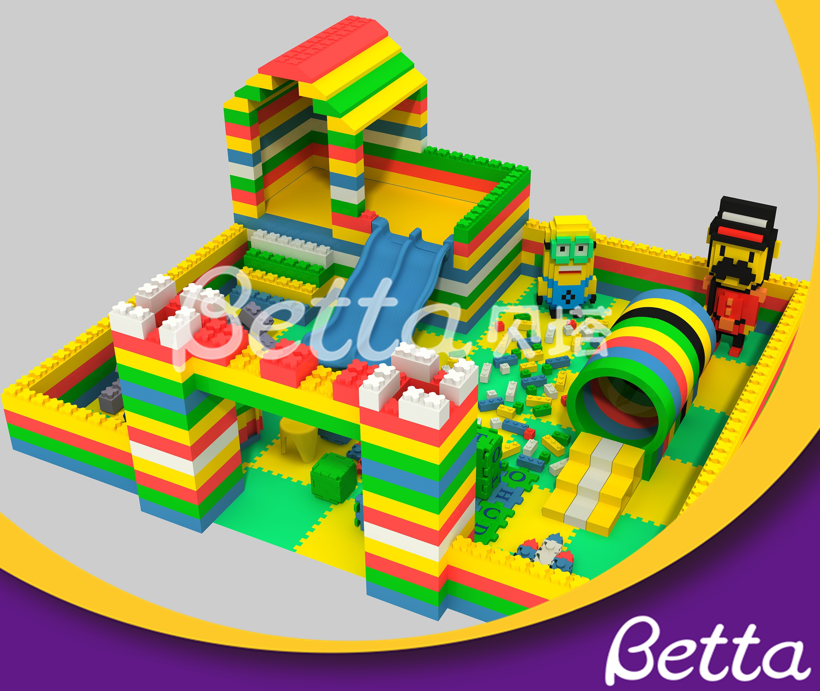 Betta DIY Epp Foam Block Building Educational Toy for Kids Indoor Playground