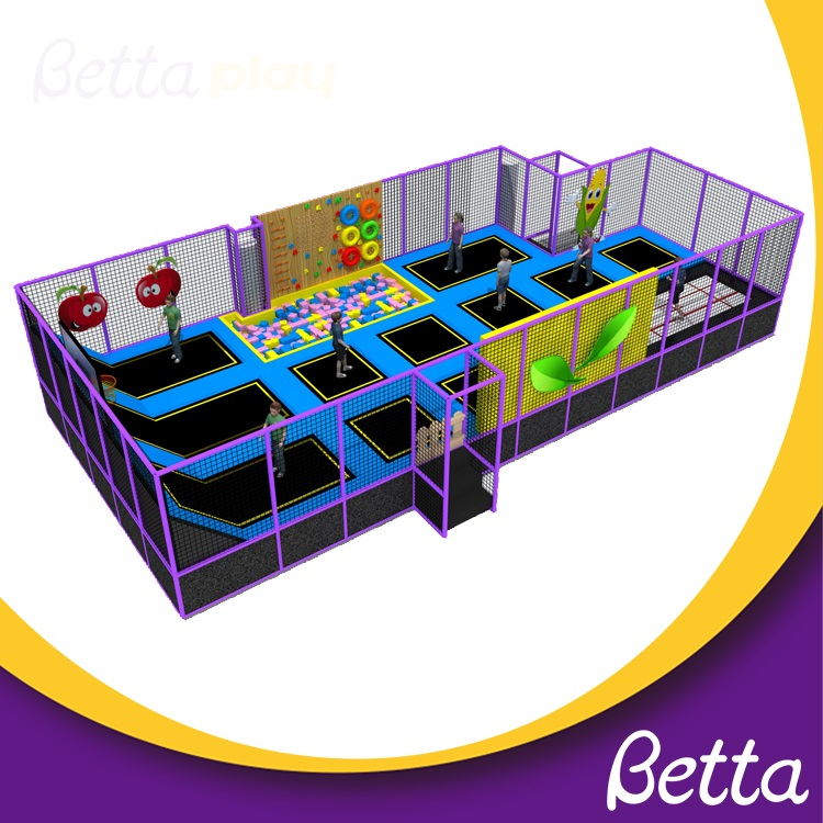 Kids Soft Play Indoor Playground Equipment with Foam Pit OEM Trampoline